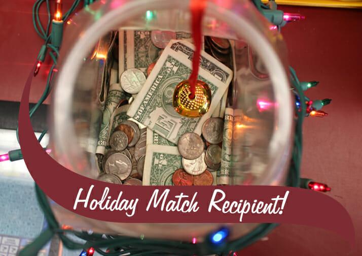 Holiday Match Recipient Coin Jar