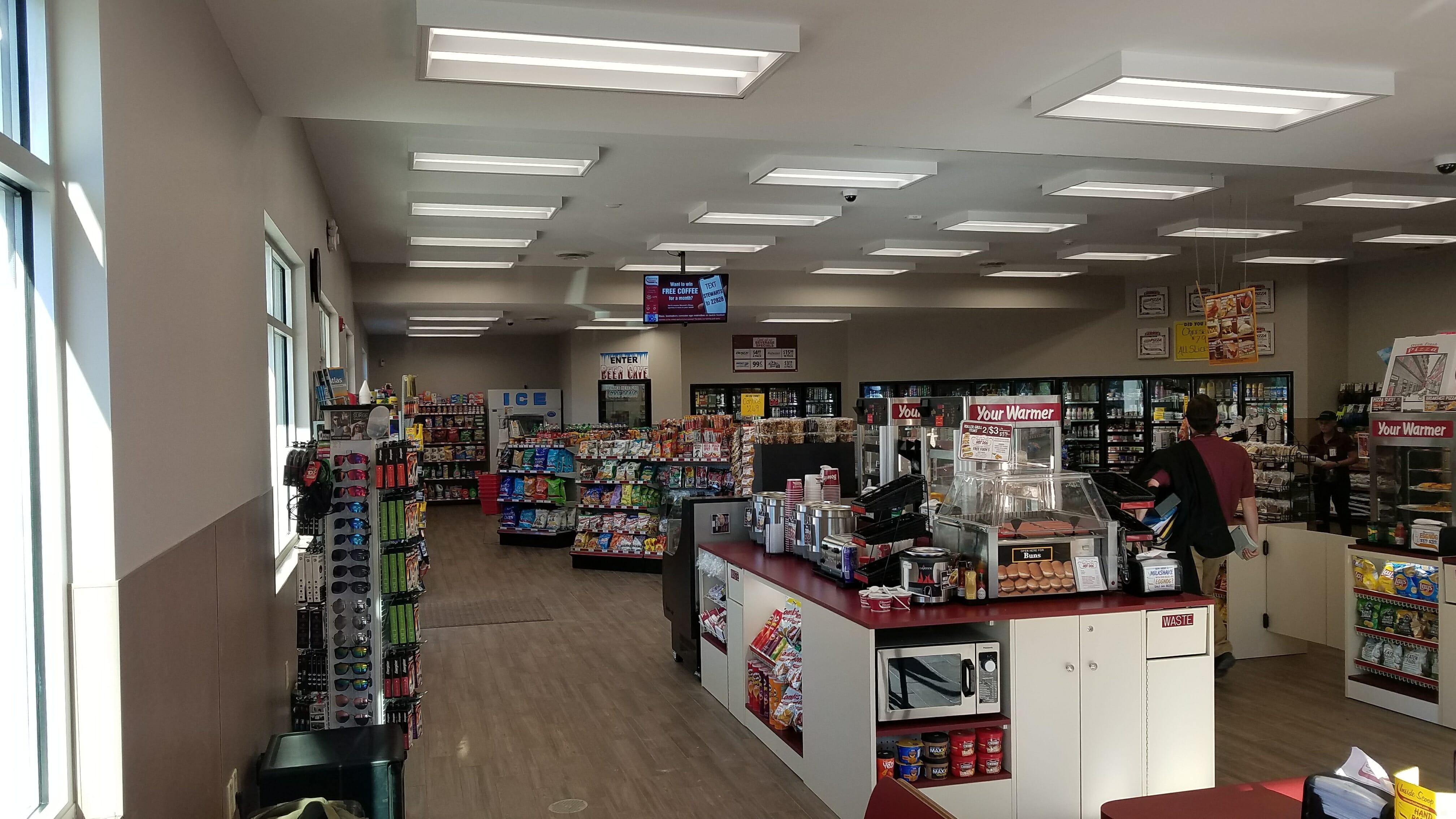 inside of new stewart's shop
