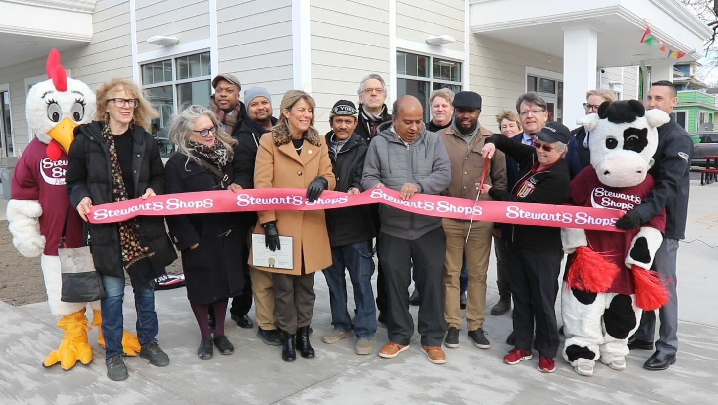 Ribbon Cutting with Scissors