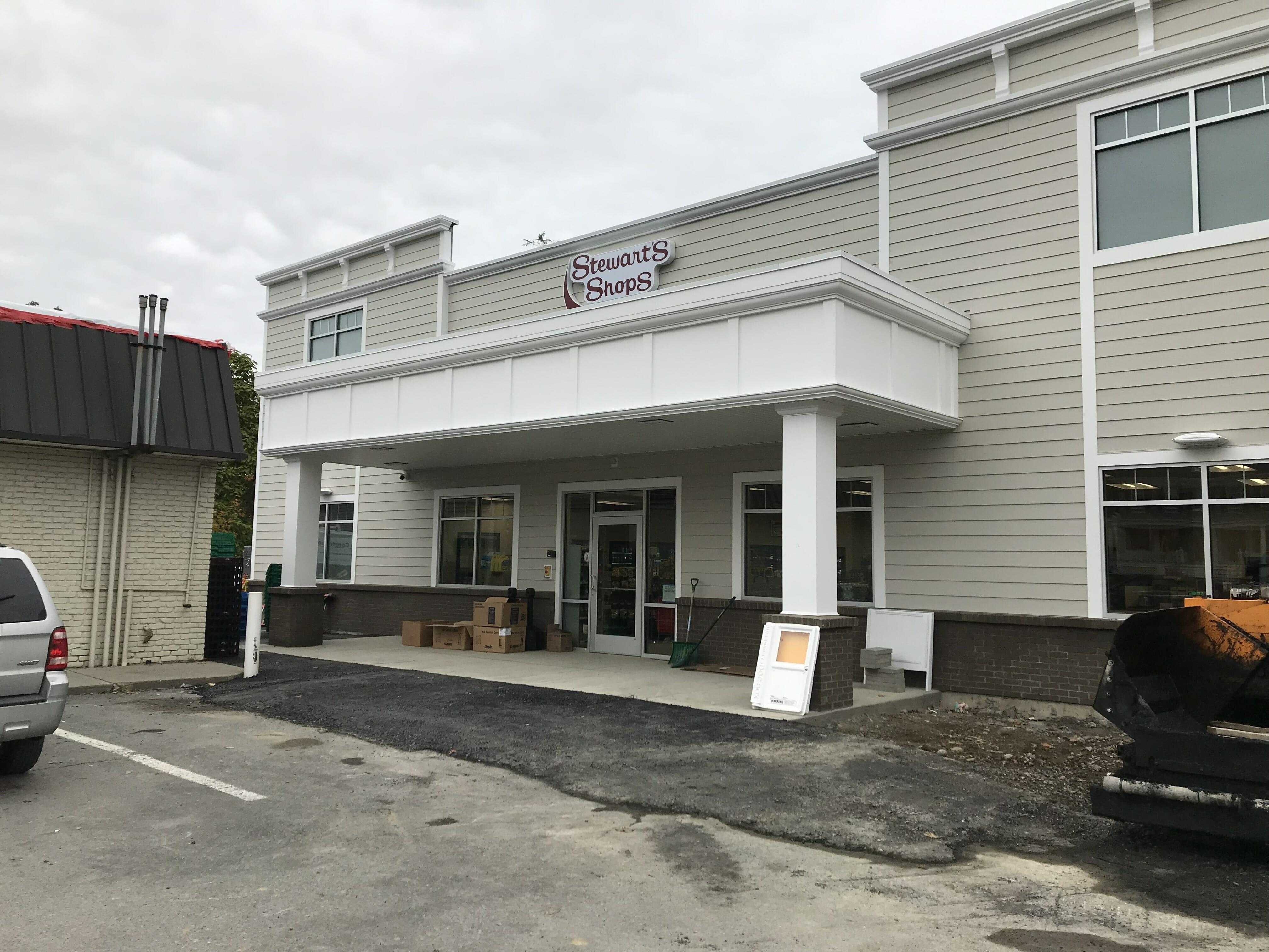 new stewart's shop entrance