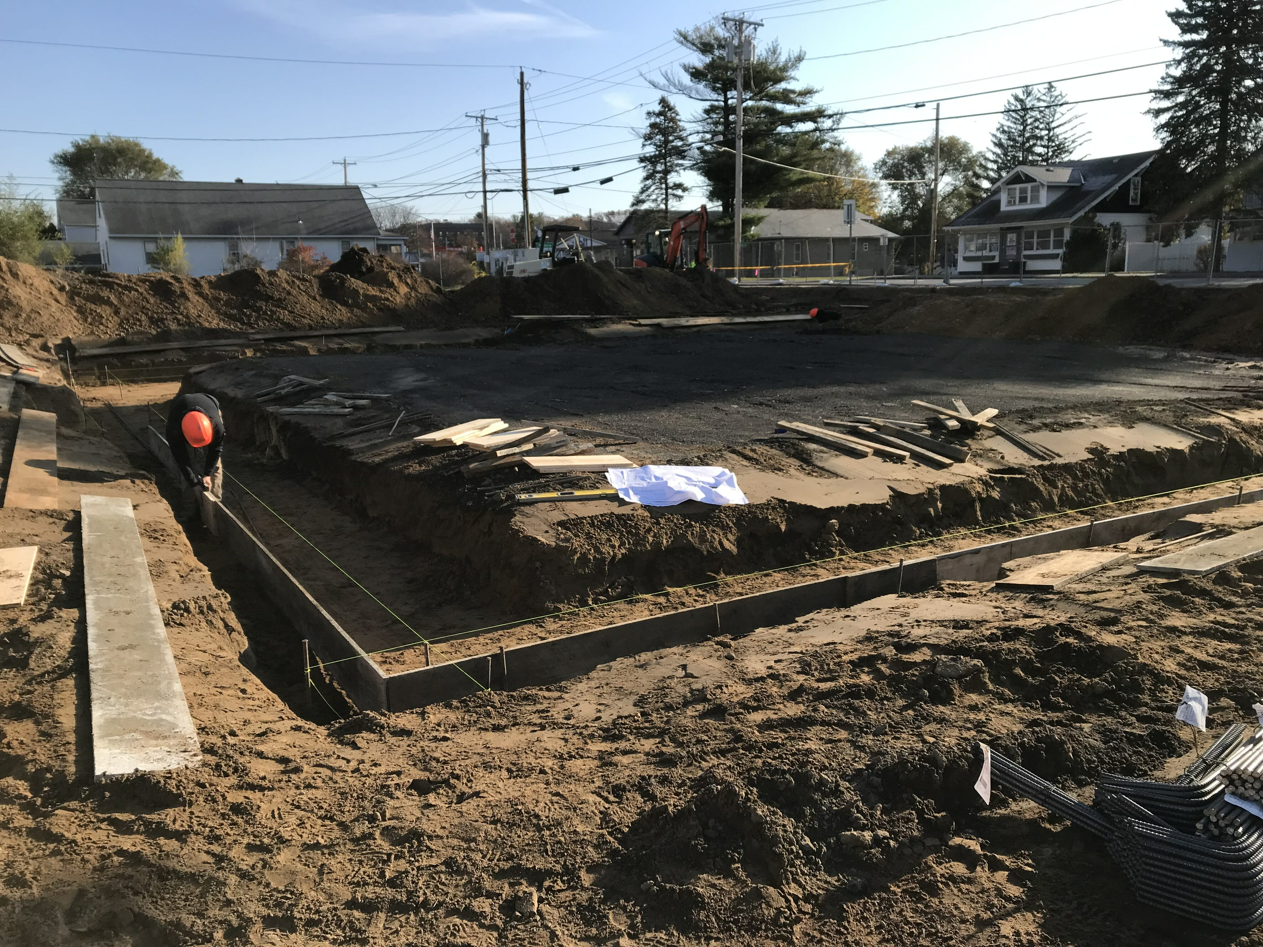Foundation being laid