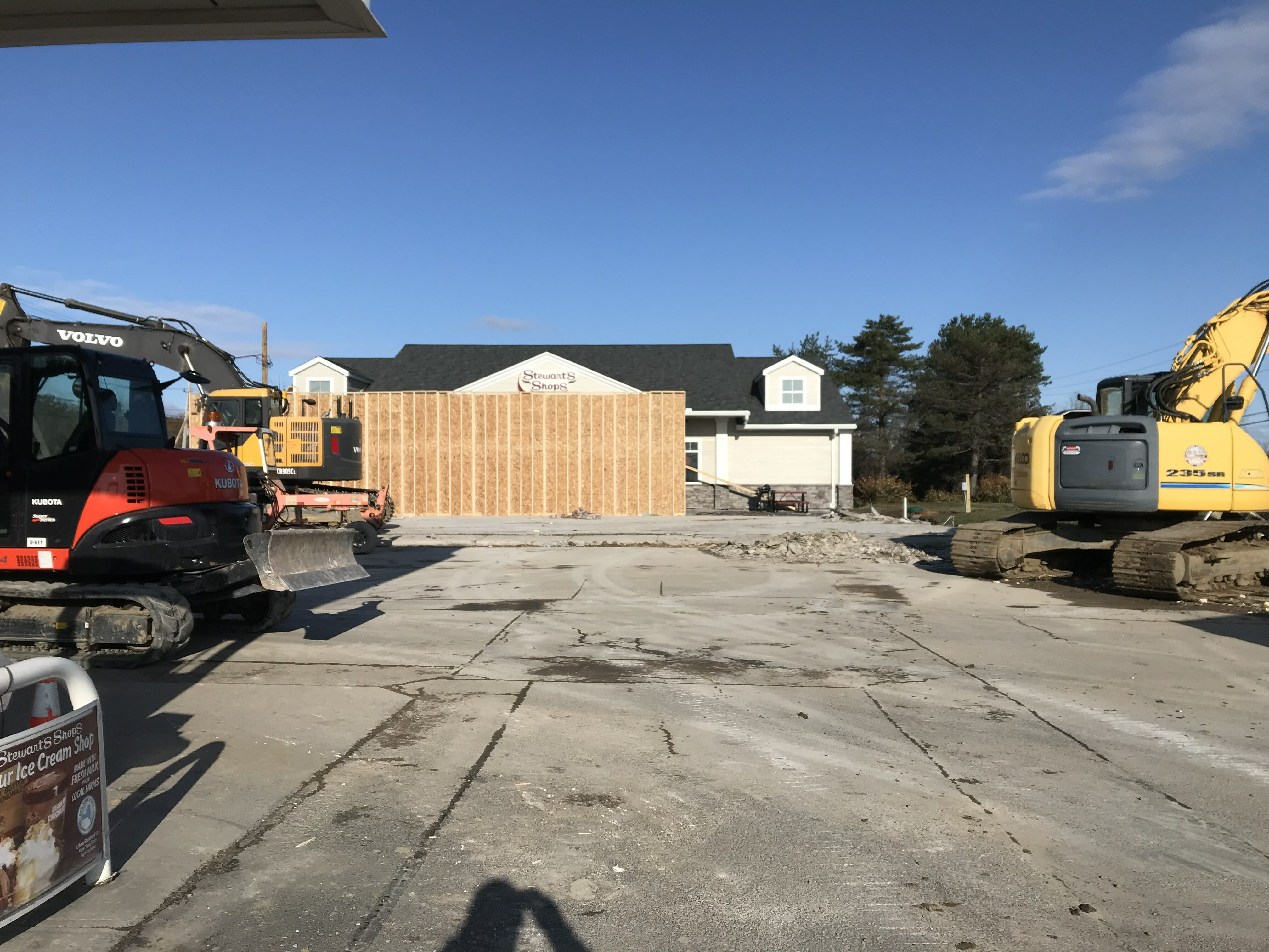 construction site in front of new shop