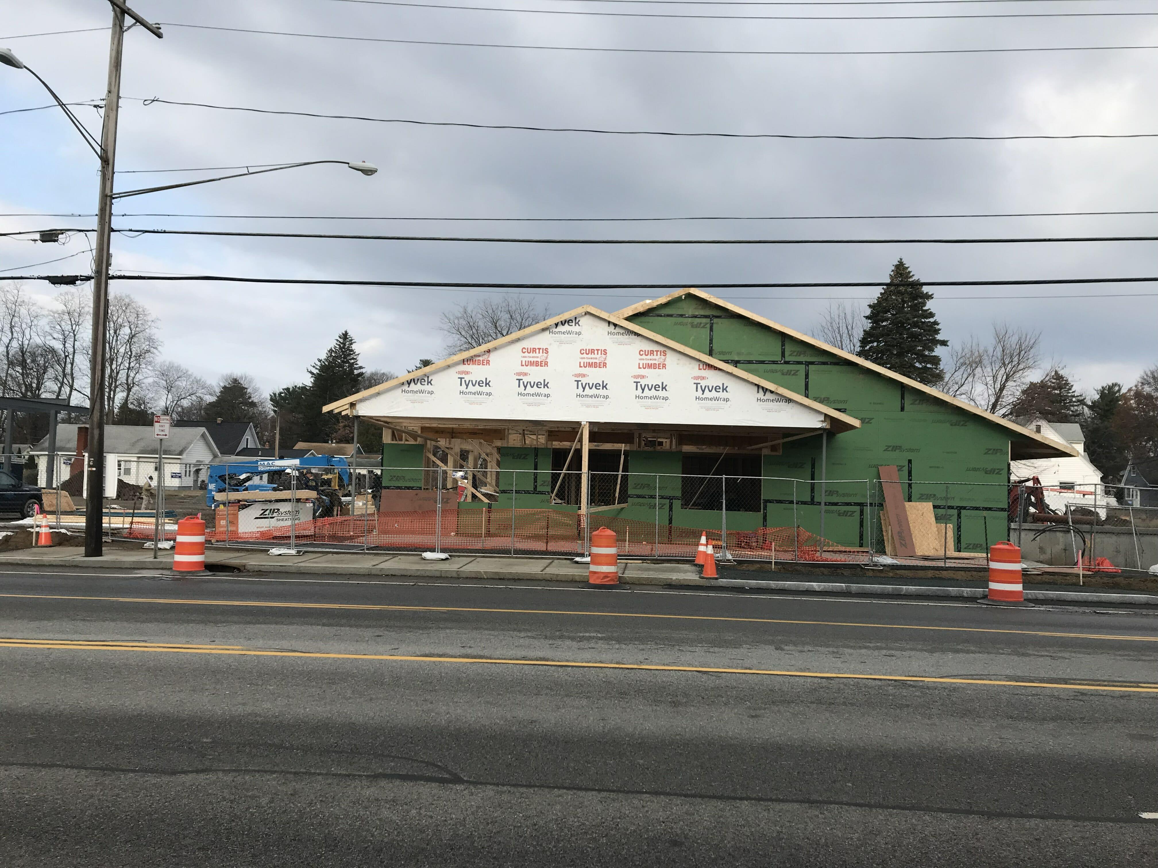 Fuller Rd Stewart's under construction