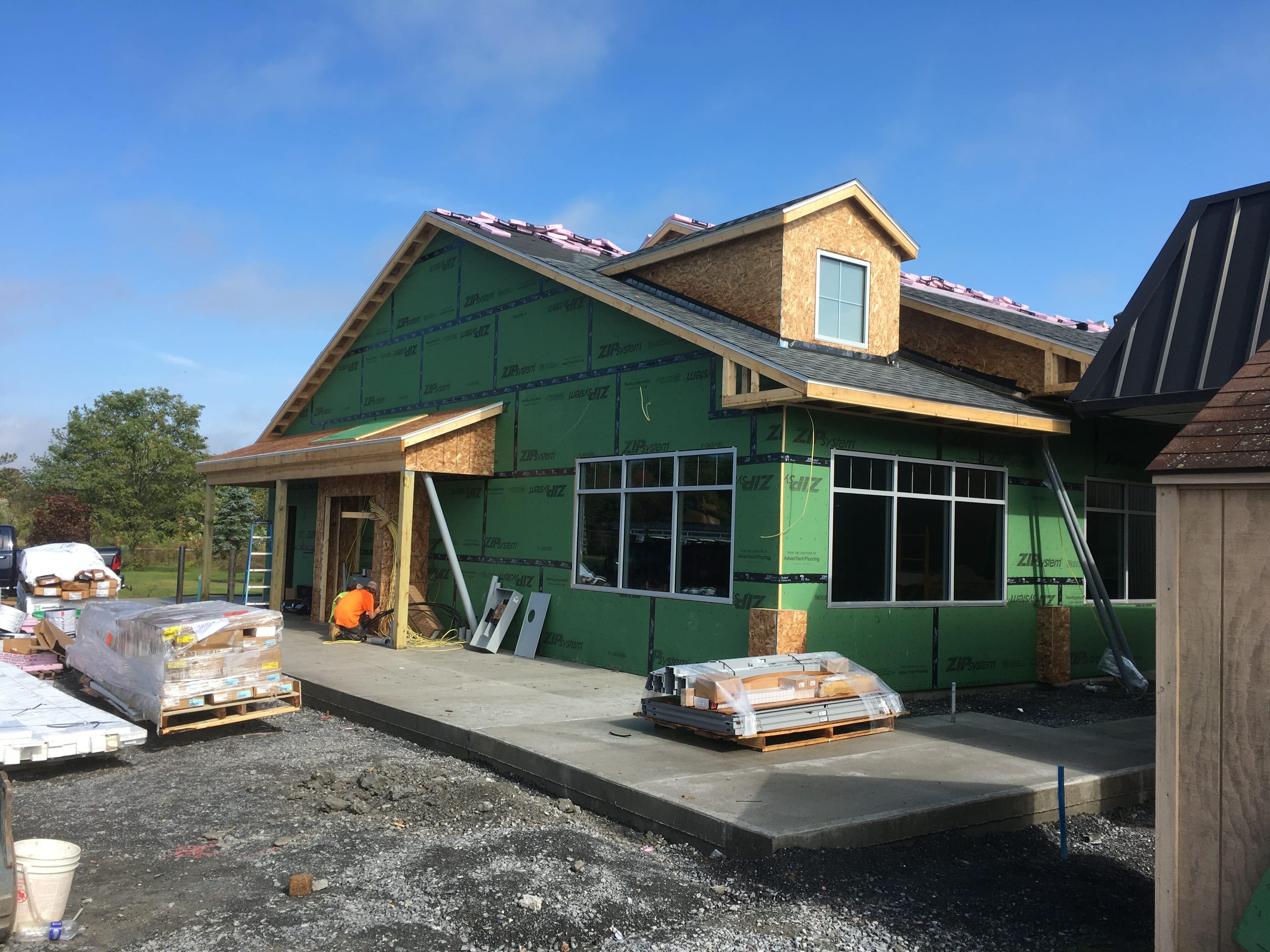 shop exterior construction
