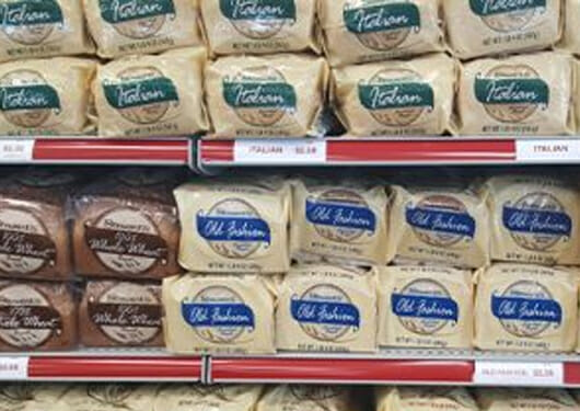 rows of stewarts bread