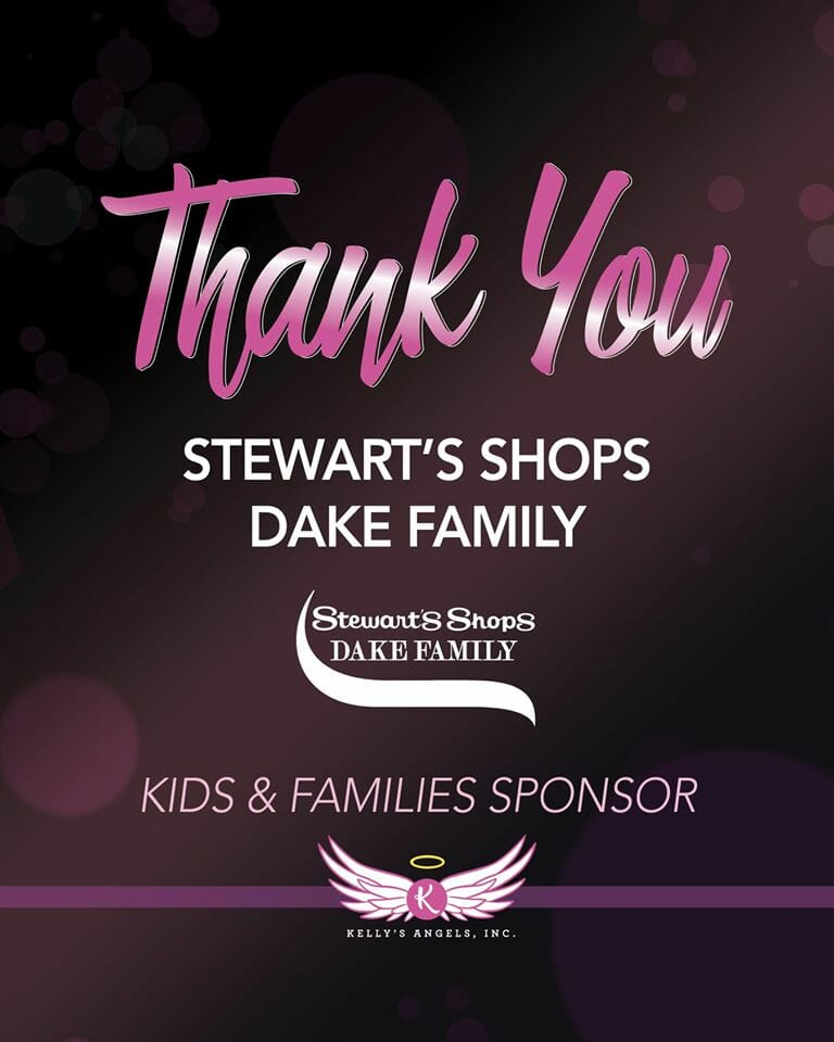 Post thanking Stewart's and The Dake Family.
