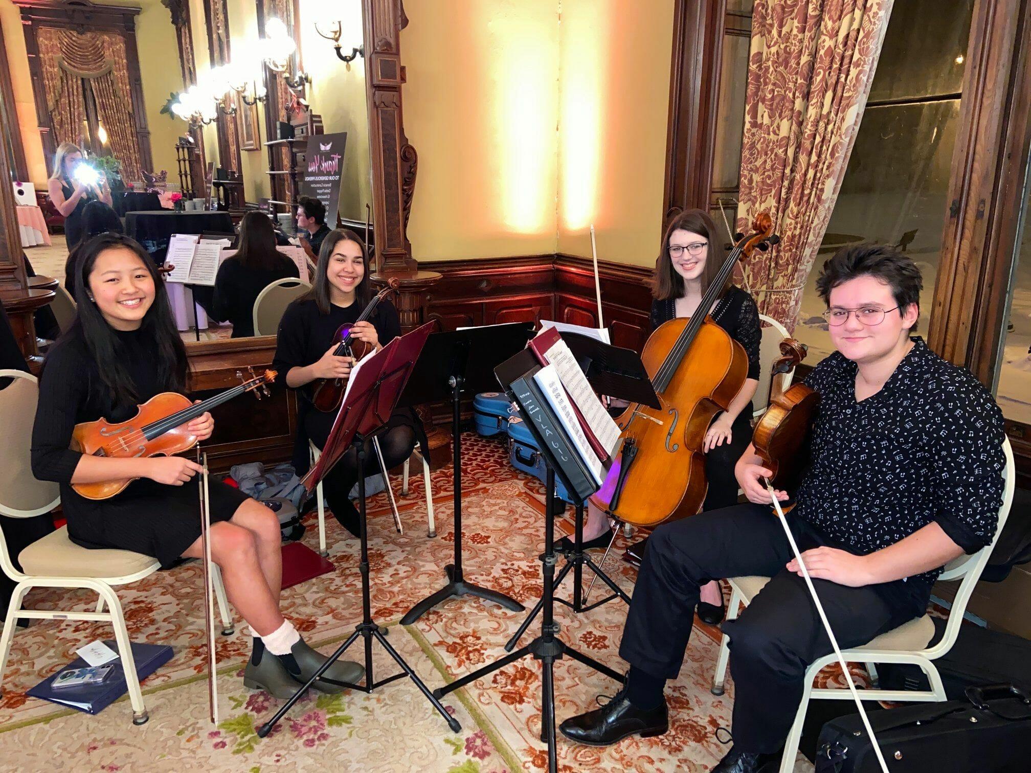 Saratoga High School string quartet.