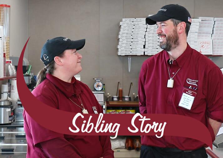 Sibling Story. Ken and Paula in their stewarts uniforms