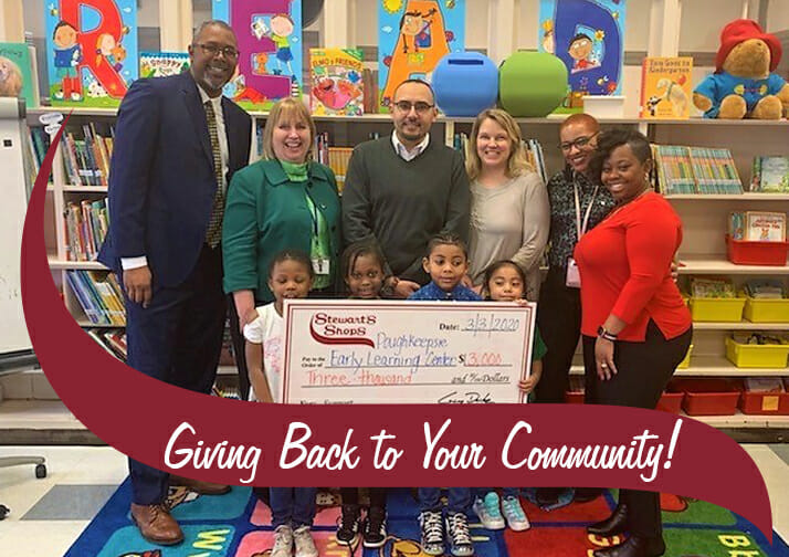 Check presentation with Stewart's District Manager and Poughkeepsie ELC.