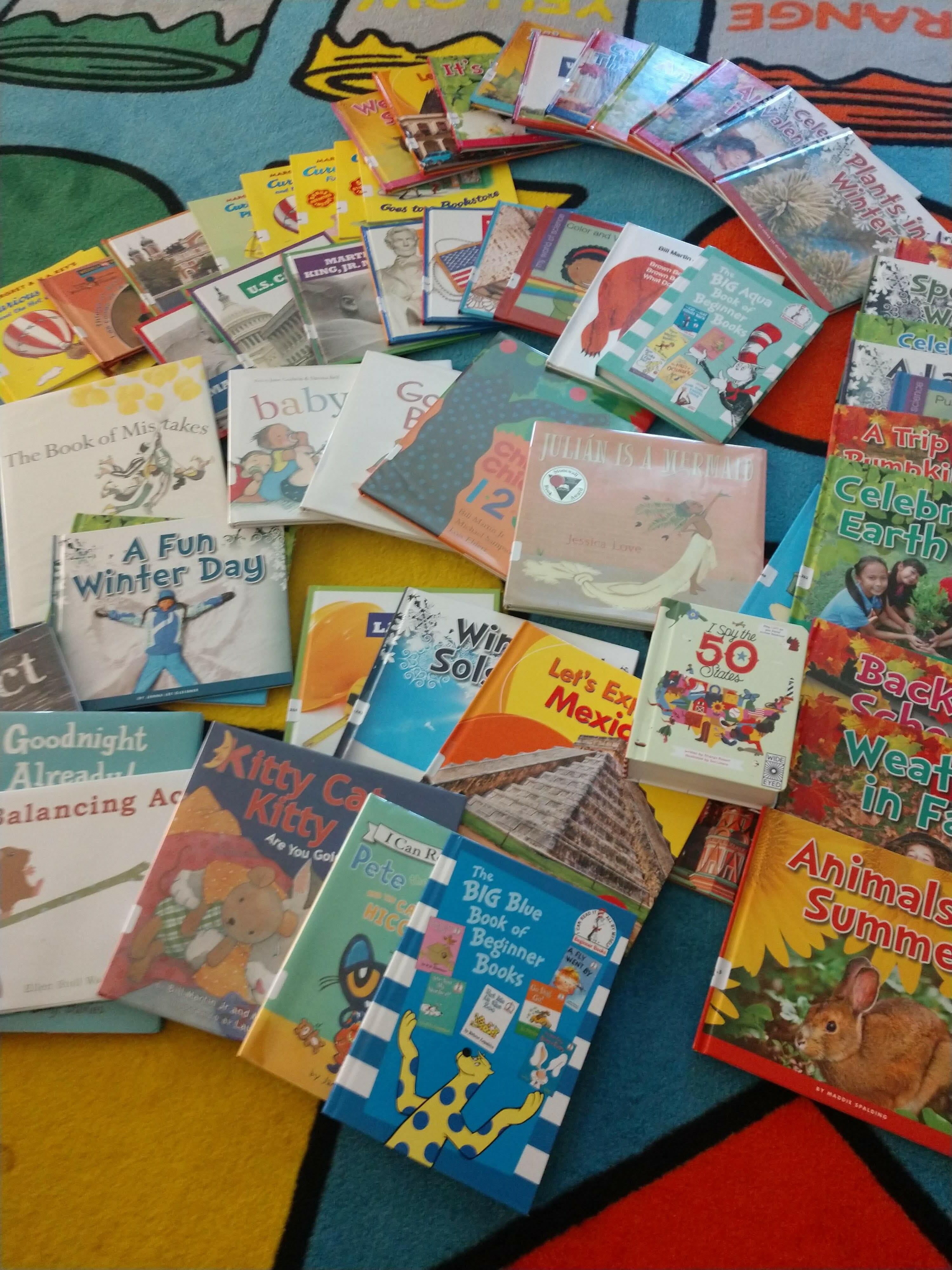 Children's books at the Pouhgkeepsie ELC.