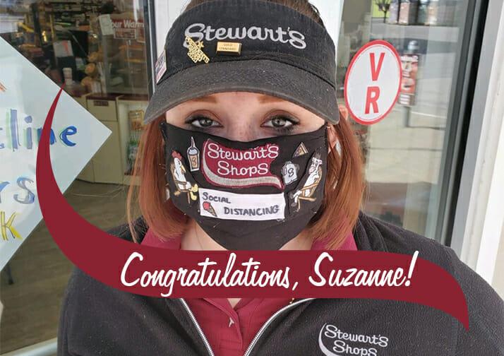 partner mask, congratulations suzanne