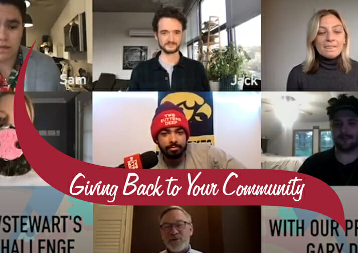 giving back to your community partnership with two buttons deep