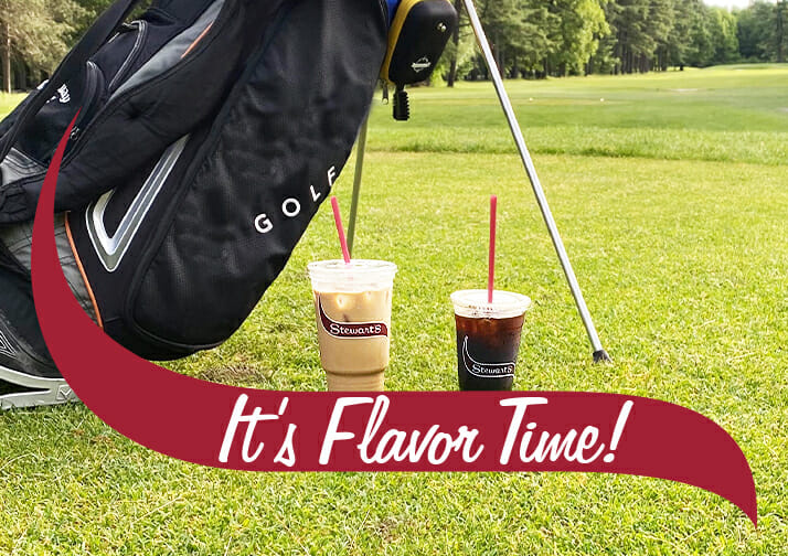 it's flavor time with iced coffee and cold brew