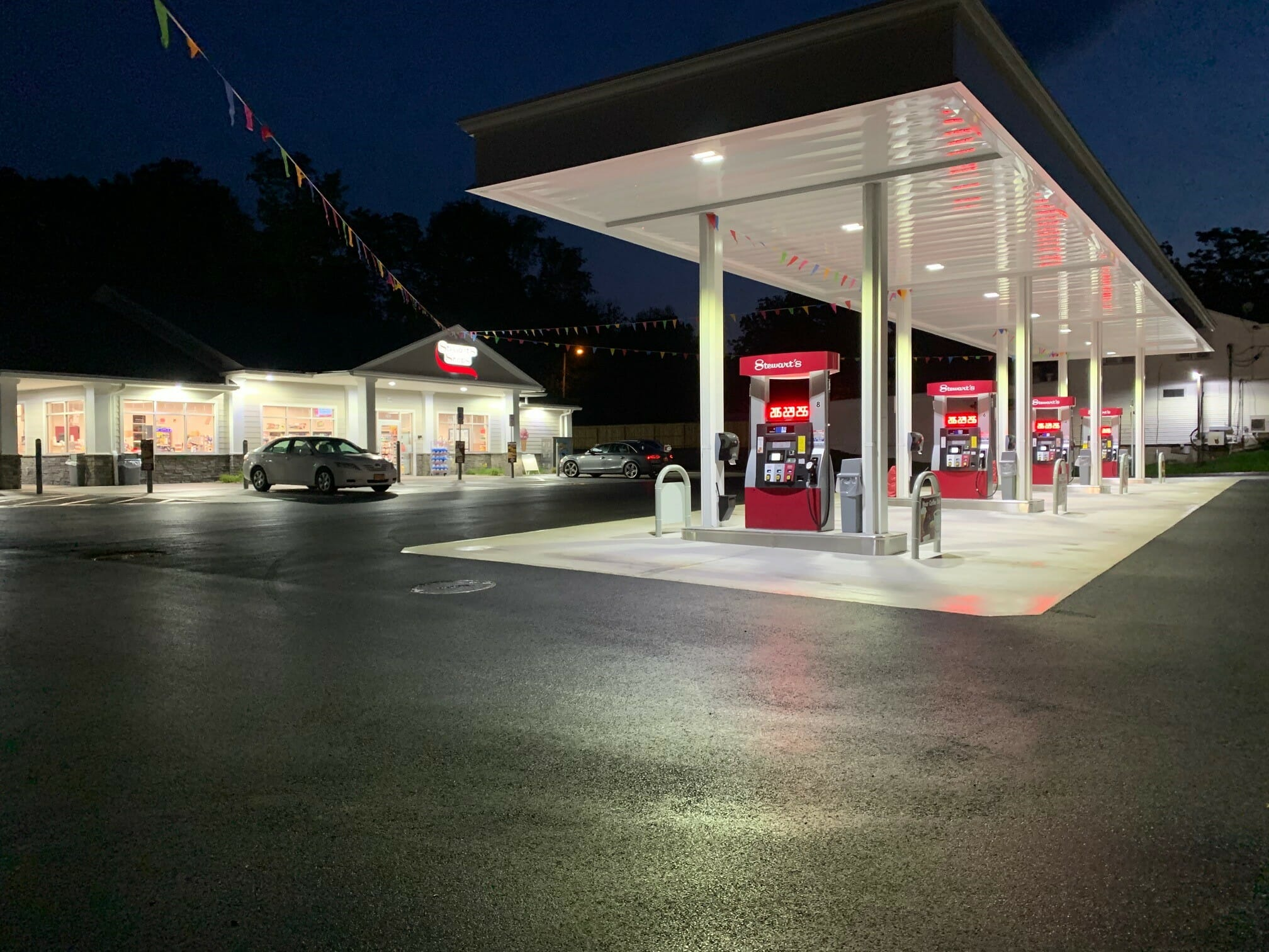 New Windsor store at night
