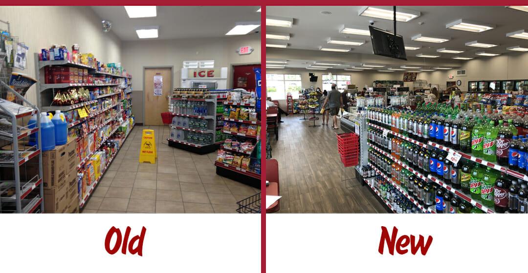 Old vs New snack isle