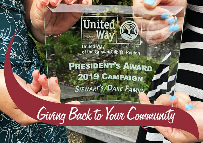 Stewart's Shops United Way President's Award