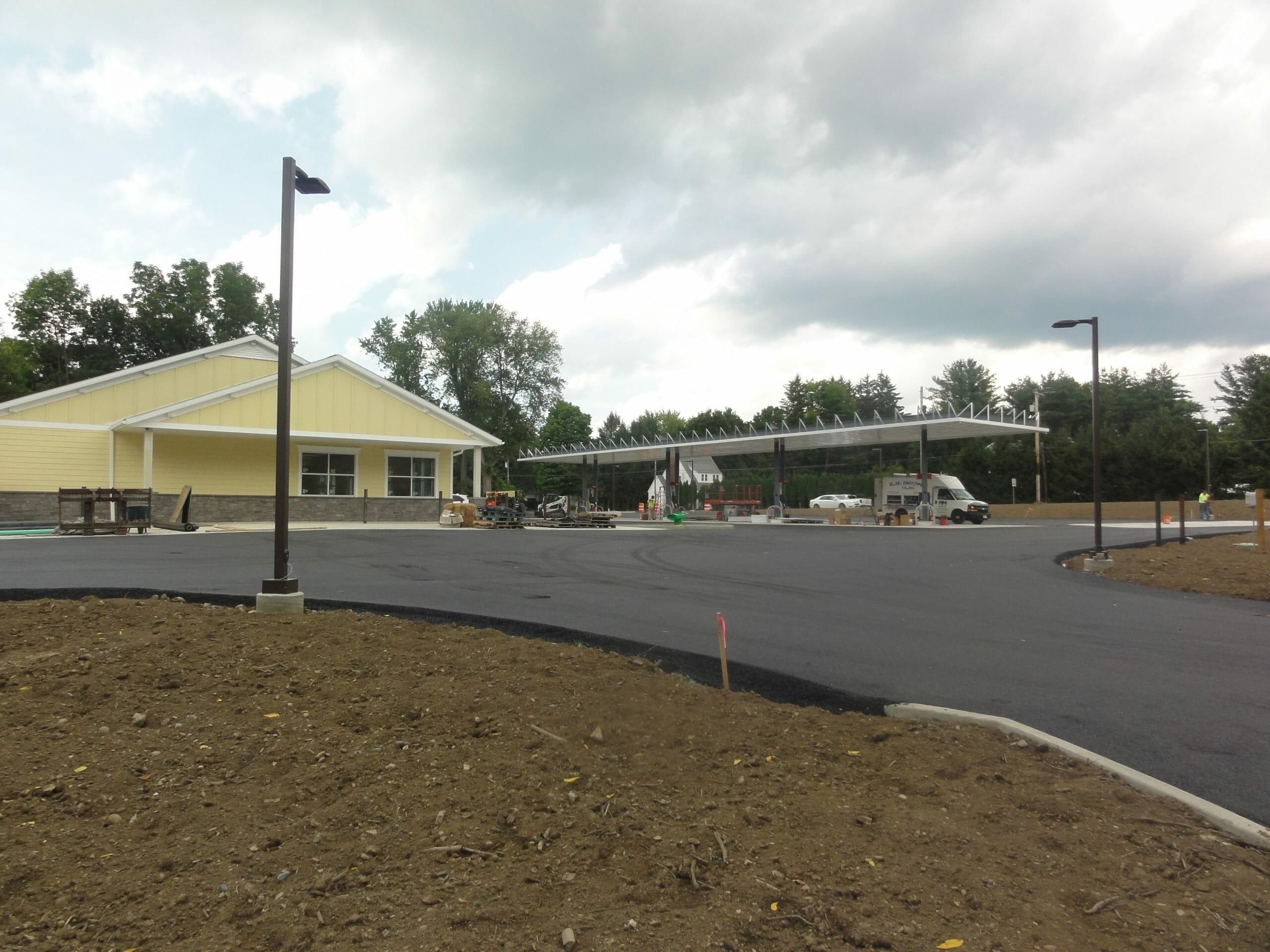 Schodack Shop being built