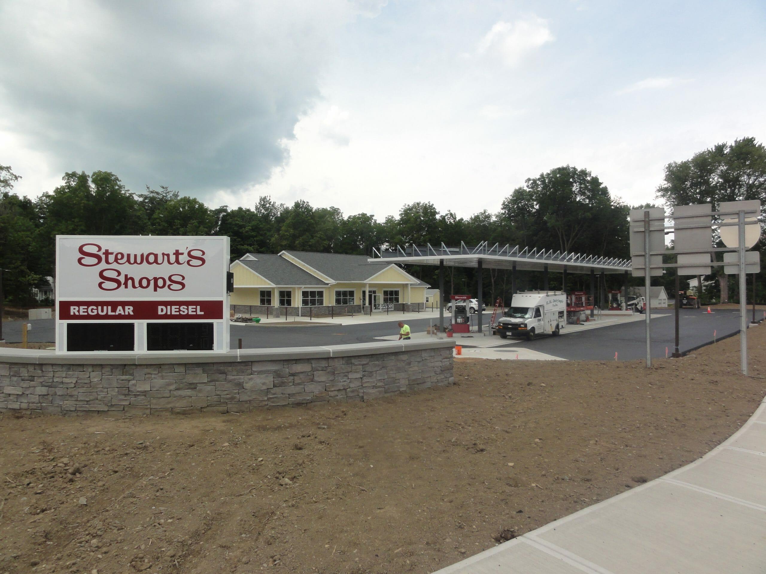 Shop under construction at Schodack