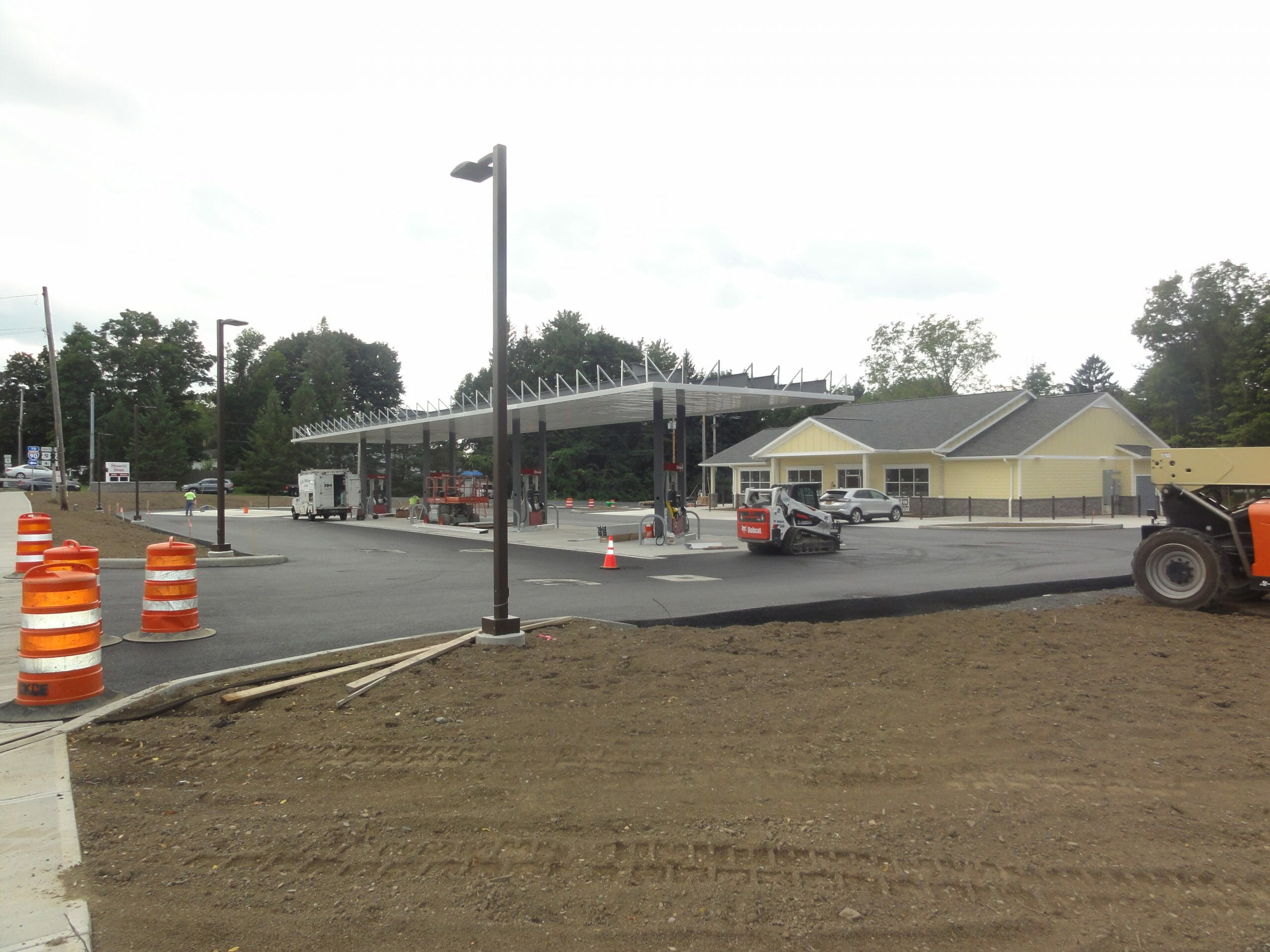 gas island being constructed in Schodack, NY