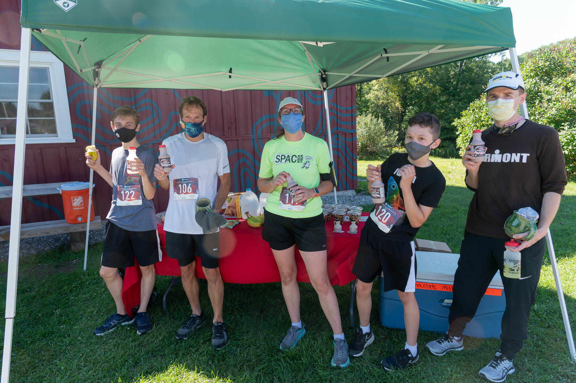 Slate valley trail runners with chocolate milk