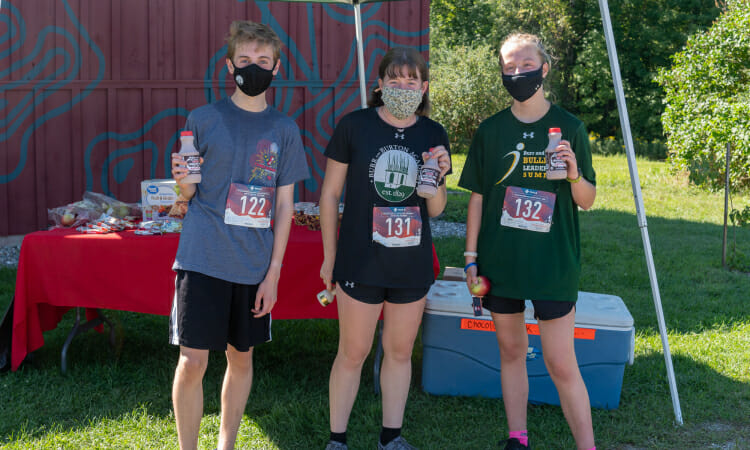 Slate valley trail runners with chocolate milk refreshers
