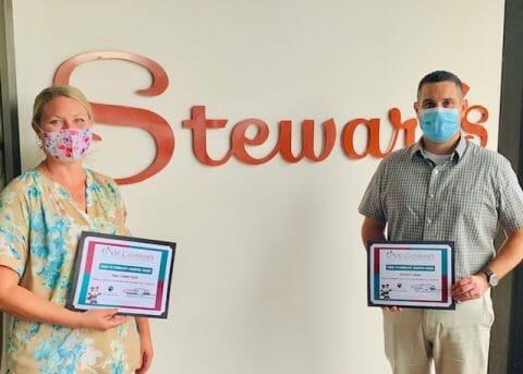 Donations team receives COVID award.