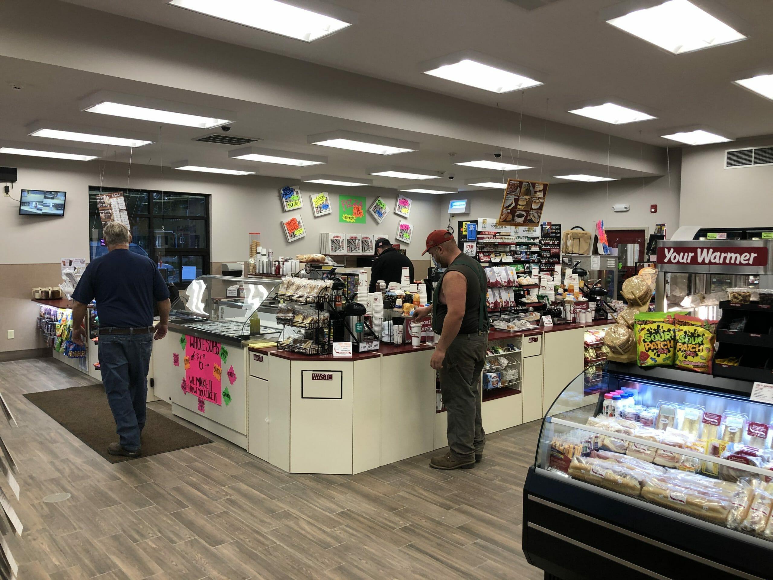 customer getting coffee