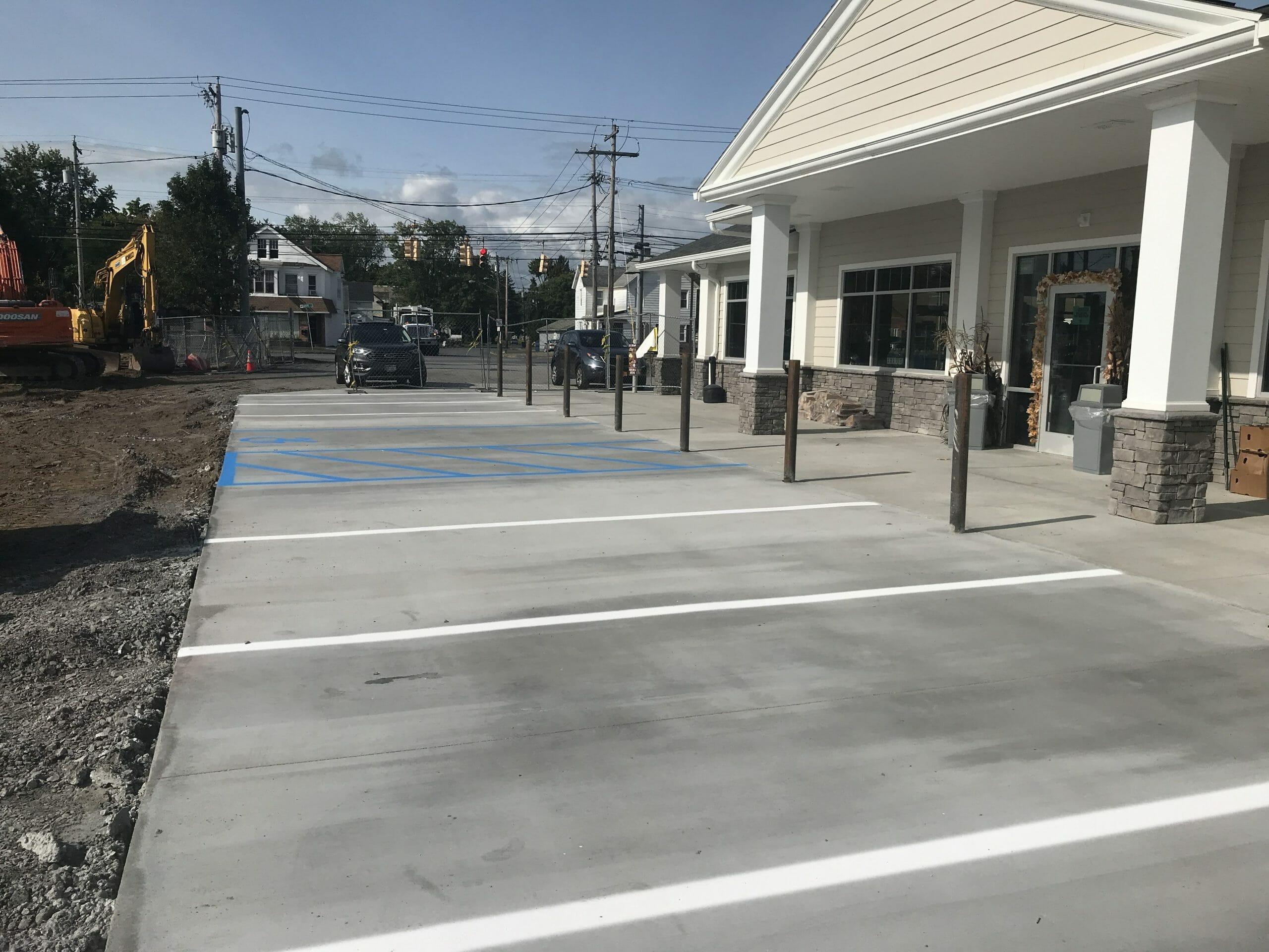 Stewarts Shop parking spots