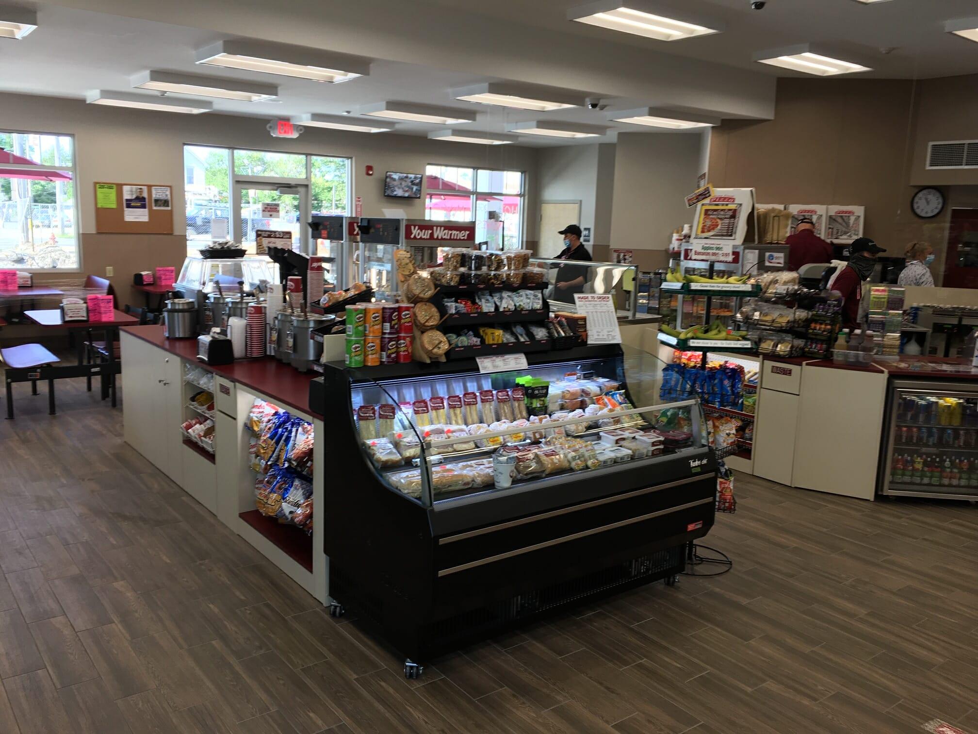 Interior of new shop