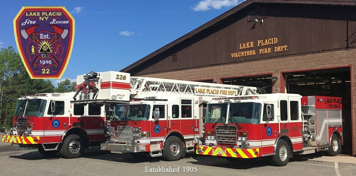 lake placid fire department truck and building
