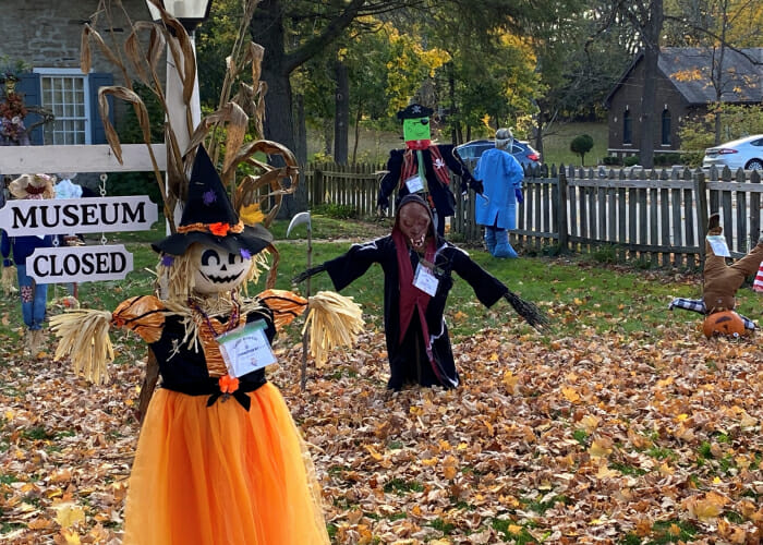 Scarecrows at the Hurley Heritage Society