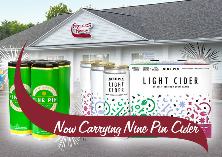 now carrying nine pin cider