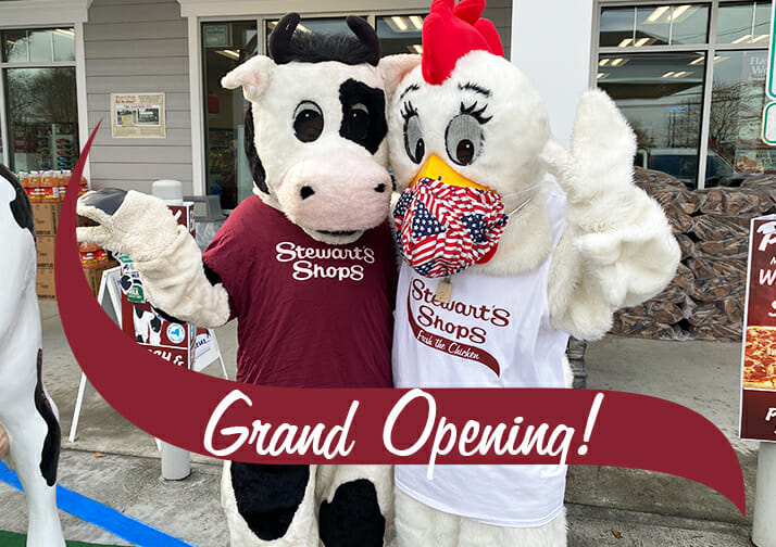 Altamont Grand Opening with Fresh and Flavor mascots