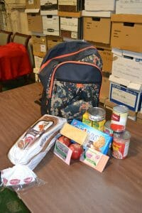 backpacks with food for kids