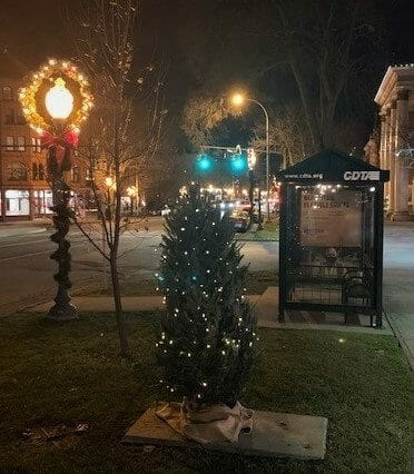6ft Christmas tree outside our City Center Shop on Broadway