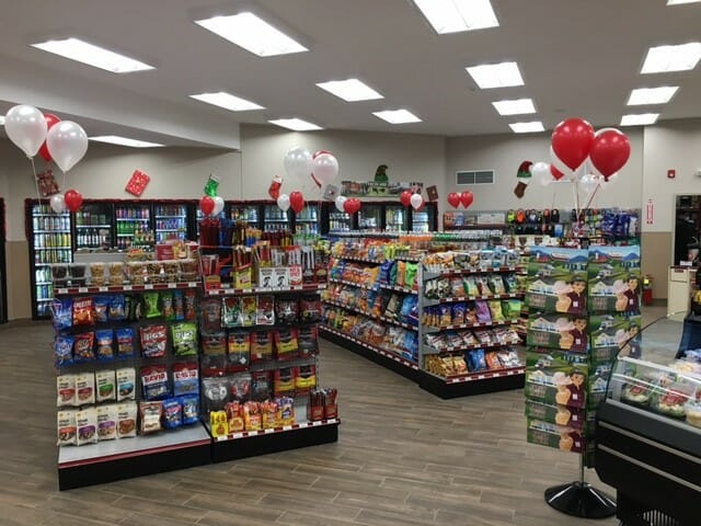 snack and grocery aisles
