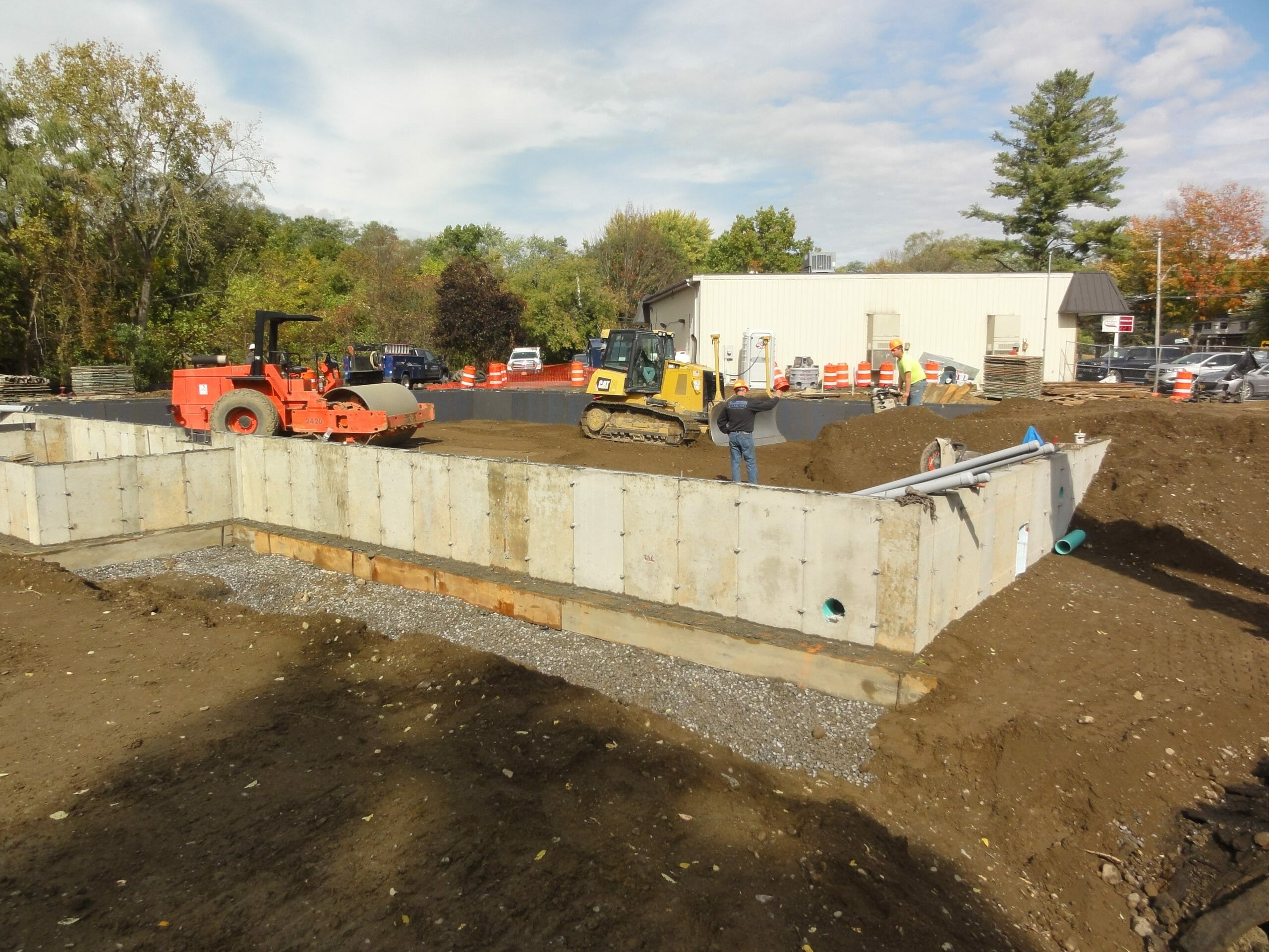 Foundation being built for store
