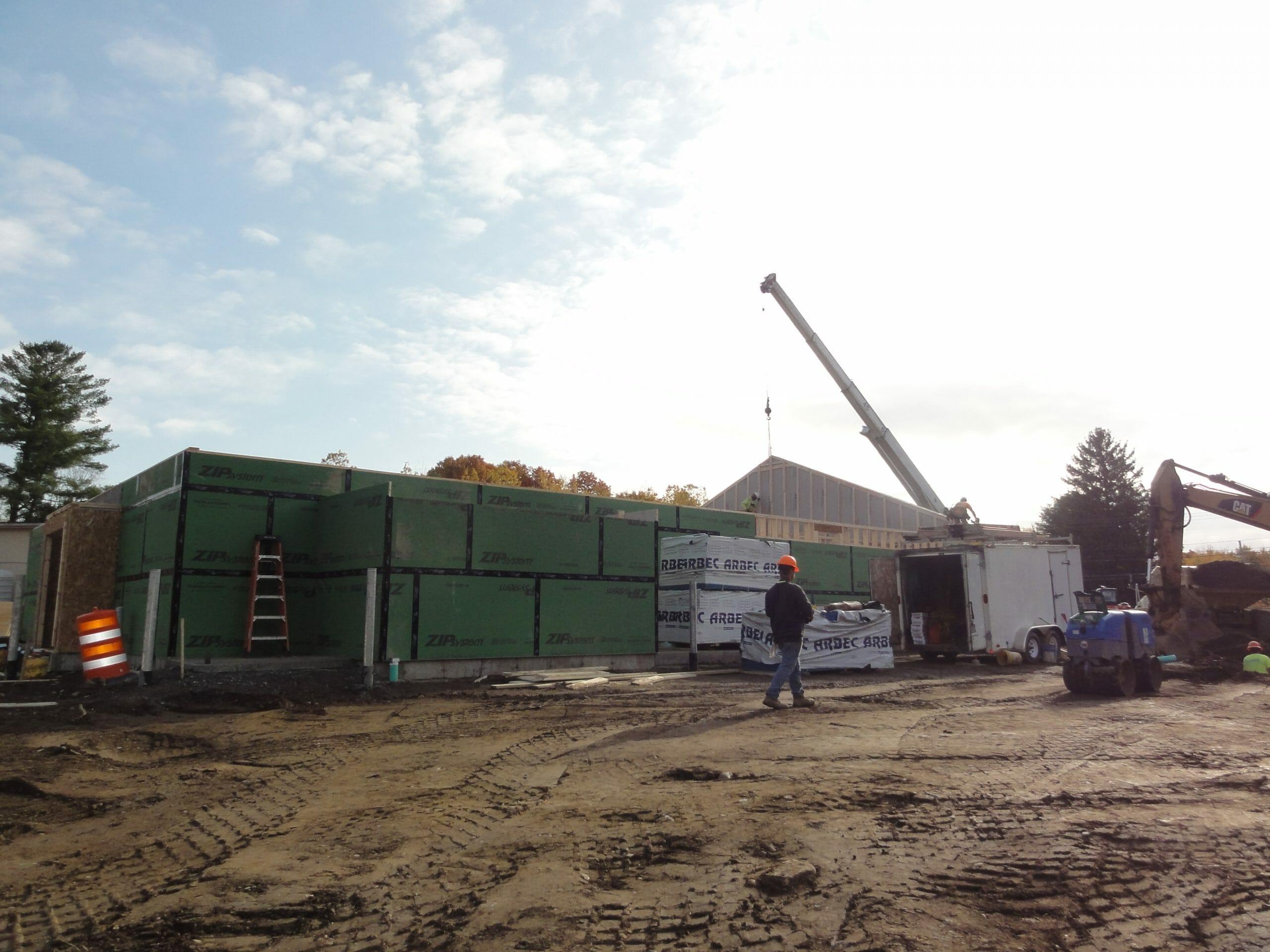 Sacangada Rd Stewarts being built