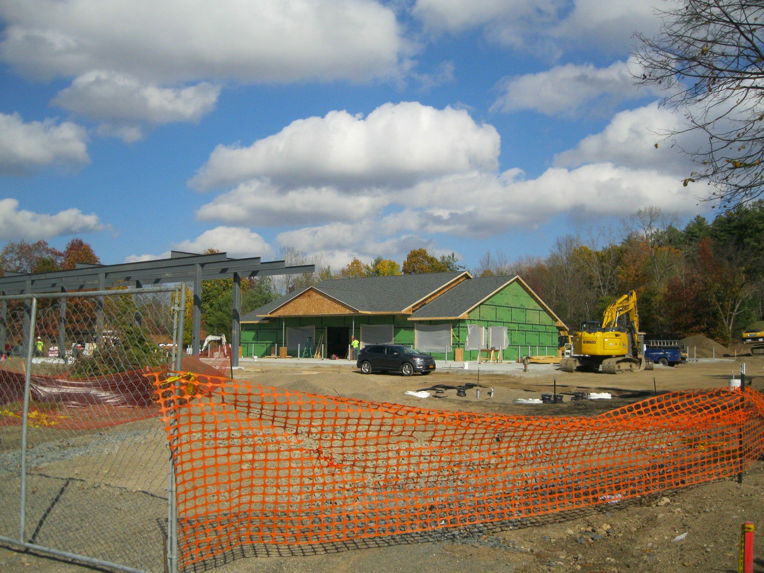 Castleton Shop Exterior being built