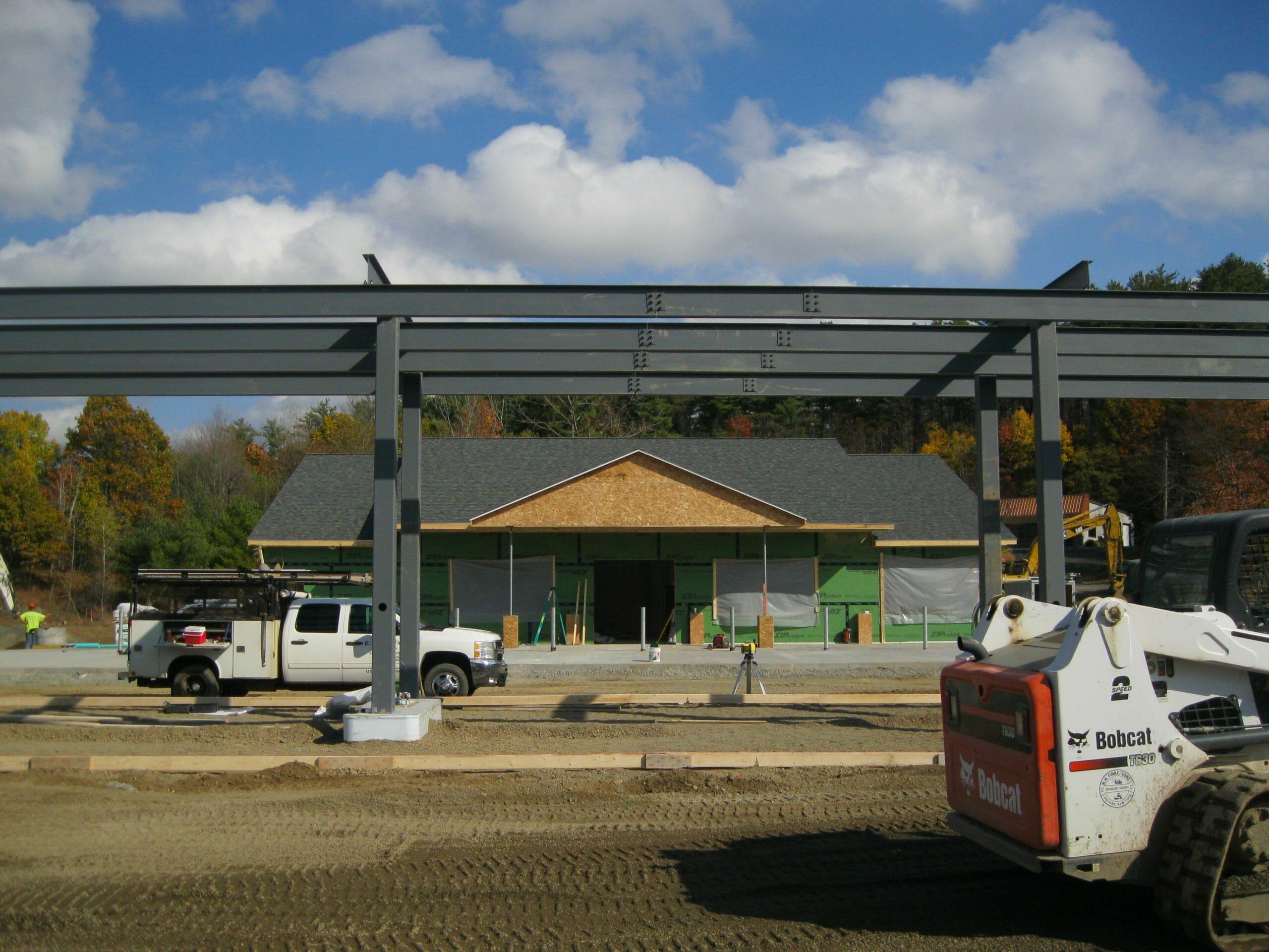 Castleton Shop being Built