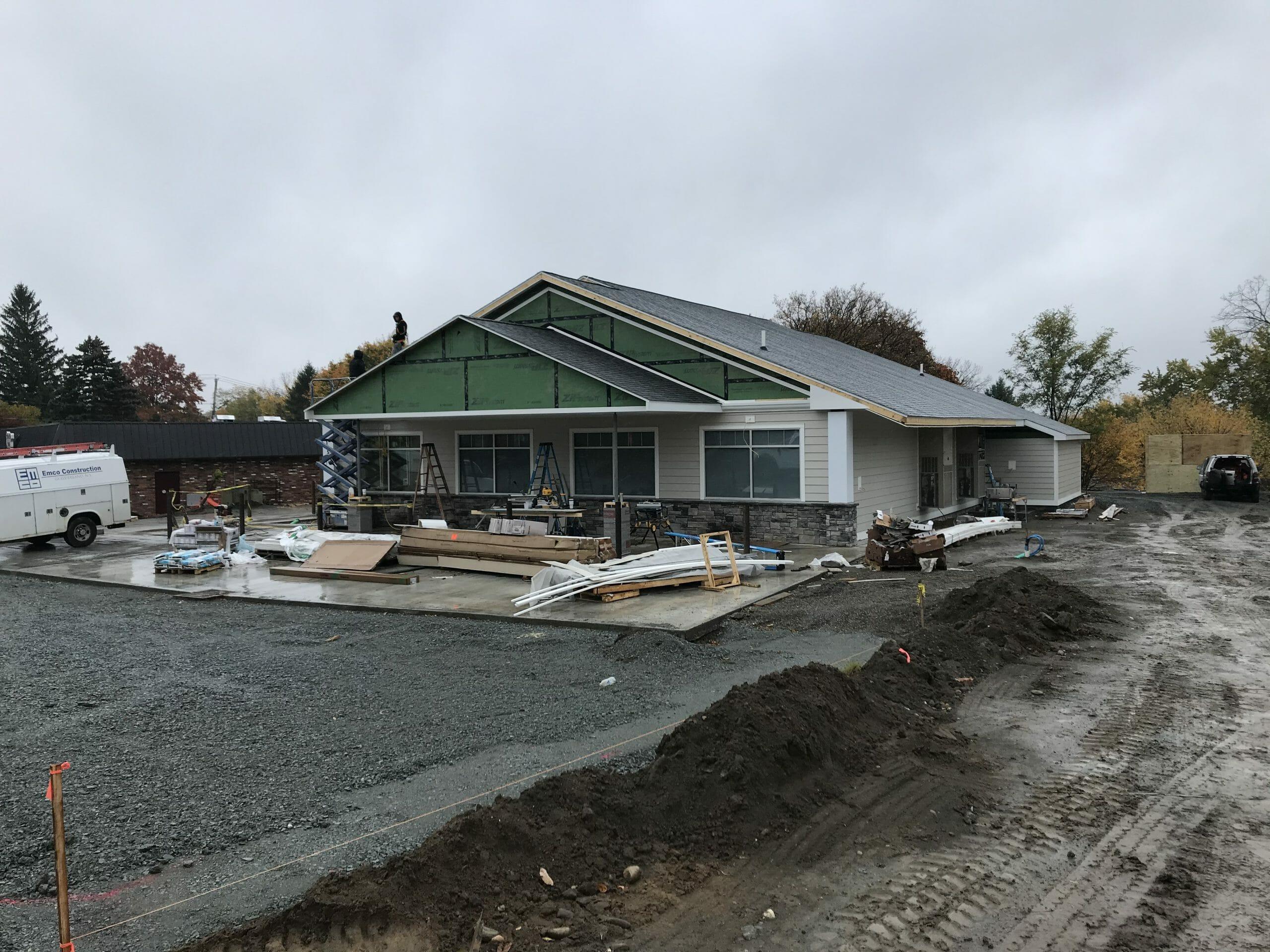 Everett Rd shop bring built