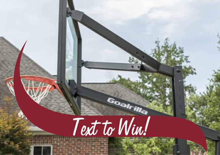 text to win basketball hoop