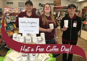 Host a free coffee day at Stewarts