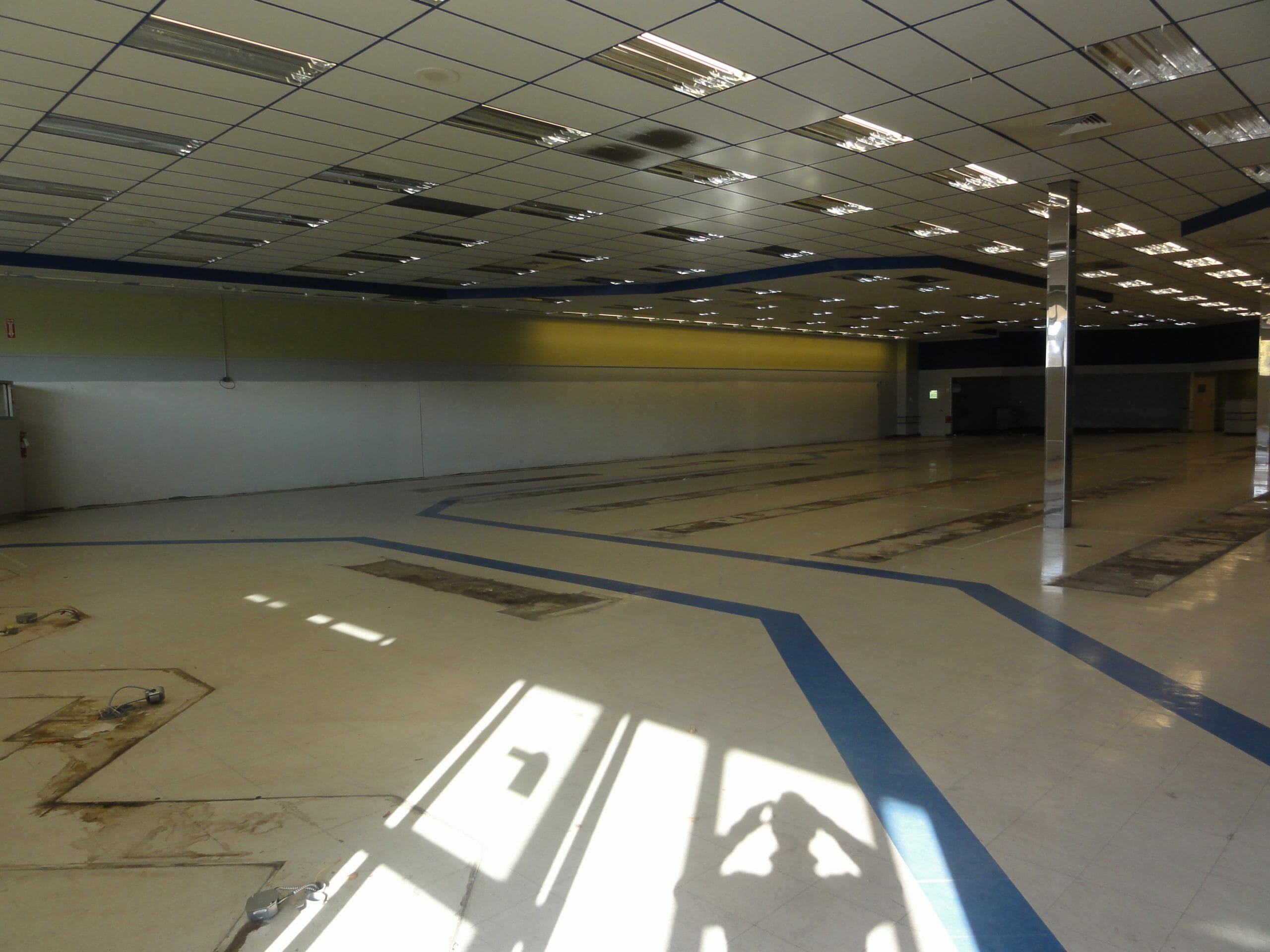 new shop being laid out