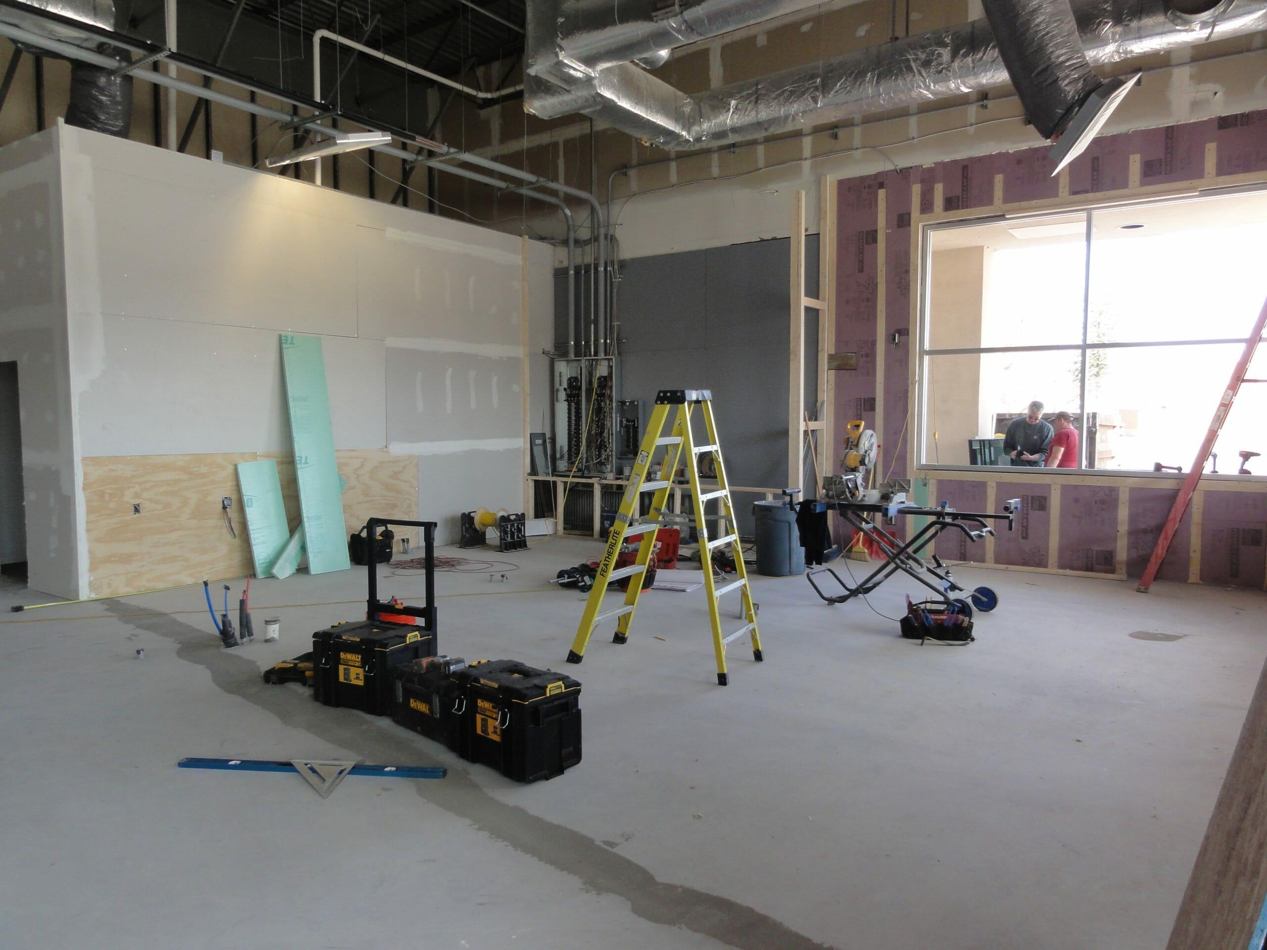 interior being built