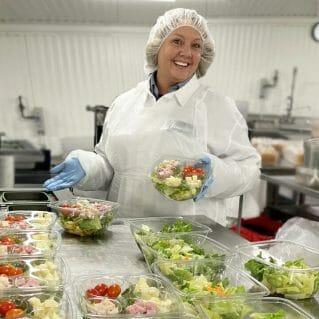 Stewart's Kitchen making salads