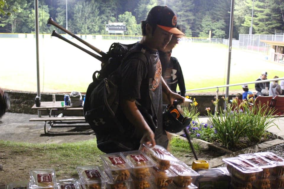 Pic of baseball player eating sub