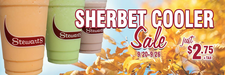 Sherbet Cooler Sale! Just $2.75 plus tax